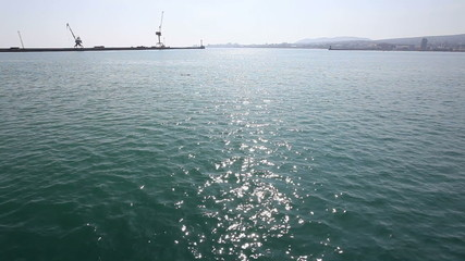 Water and loading crane in sea port