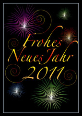 Happy New Year card 2011 germany frohes neues jahr