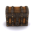 3d Locked treasure chest