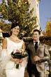Ritratto di sposi sorridenti