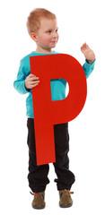 """Letter """"P"""" boy"""