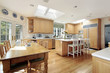 Kitchen with white island