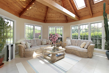 Sunroom in luxury home