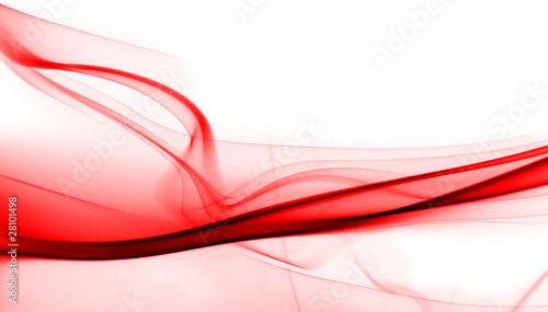 Red smoke in white background - 28101498