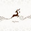 Jumping Reindeer, Christmas Ball & Snowflakes Brown
