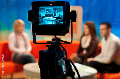 canvas print picture TV studio - Video camera viewfinder