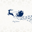 Christmas Sleigh & Snowflake Ornament Blue
