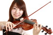 young woman plays Violin