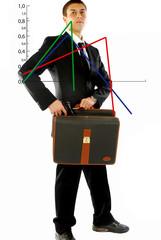Grafico del fallimento del businessman