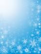 Snow Flurries in Blue