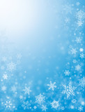 Snow Flurries in Blue poster