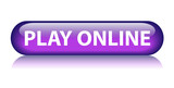 PLAY ONLINE Web Button (video games gamepad entertainment go) poster
