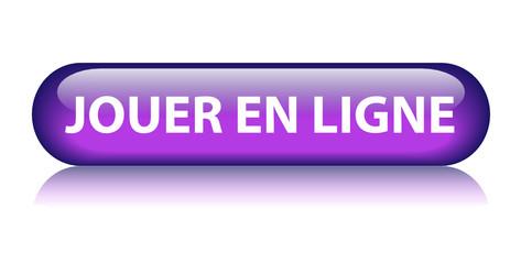 Bouton Web JOUER EN LIGNE (jeux vidéo jeu réseau arcade console)