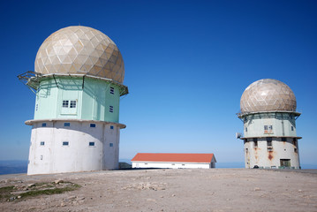 transmitter towers in mountaines (Portugal)