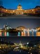 Triptyque Parisien - Pont des arts - Notre dame - Bastille