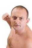 Aggressive man poster