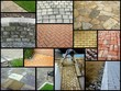 canvas print picture - paving stones