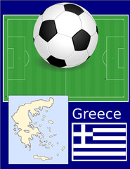 Greece soccer football sport world flag map