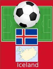 Iceland soccer football sport world flag map