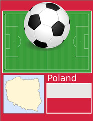 Poland soccer football sport world flag map