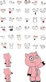 pig plush cartoon set poster