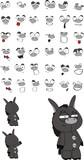 donkey plush cartoon set poster