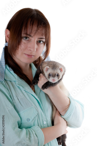 Portrait with a polecat