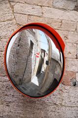 Street mirror.