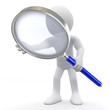 Man with magnifying glass