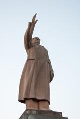 A stone statue of Maozedong