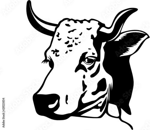 Vache fichier vectoriel libre de droits sur la banque d - Vache dessin facile ...