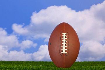 American football tee'd up