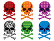 Skull collection vector
