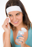Teenager problem skin care - woman cleanse poster
