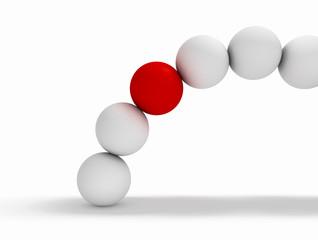 imagen 3d conceptual con bolas