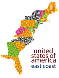 usa east coast - hi detailed vector map