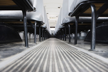 Aisle Between Seats in School Bus