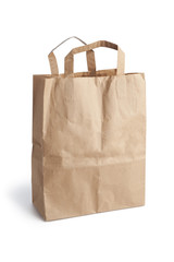 Empty brown paper shopping bag