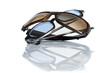 Leinwandbild Motiv Blaue und braune Sonnenbrille
