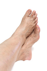 Mature woman foot