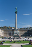Schlossplatz Stuttgart mit neuem Schloss