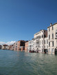 The Grand Canal with blue sky in Venice Italy