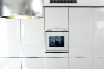 kitchen white oven modern architecture detail