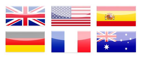 Länder Buttons