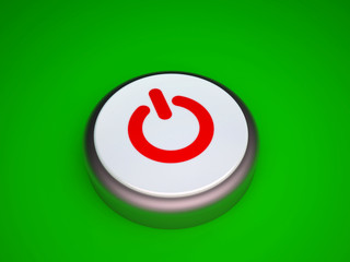 Power button on green