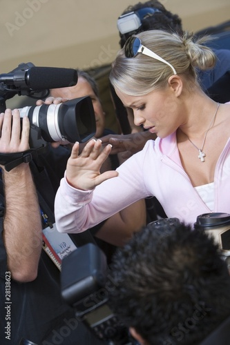 Female celebrity and paparazzi