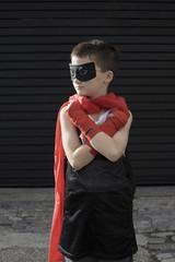 Boy wearing Zorro costume