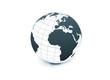 World globe on white background