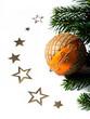 Christbaumkugel mit Sternen