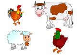 Farm animal poster
